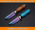 Two Version Damascus Hunting Knife 58HRC Damascus Steel Knives Collection Knife Hand Tools 6810