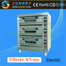 Commercial electric 3 deck 6 trays bakery italian bread automatic oven used price for sale