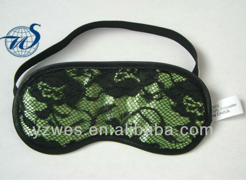 Green satin look very sex and suit for sleep lace eye mask