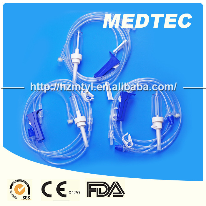 CE and ISO approved medical disposable precision infusion set with needle for single use