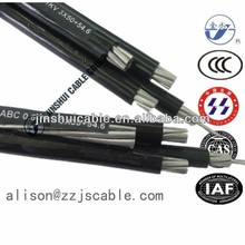 Standard power cable sizes from manufacturer