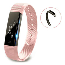 ID115 Smart Bracelet Fitness Tracker Step Counter Activity Monitor Band Alarm Clock Vibration Wristband