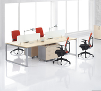 latest design office cubicles ,latest design wooden MDF frame office workstation four people office desk