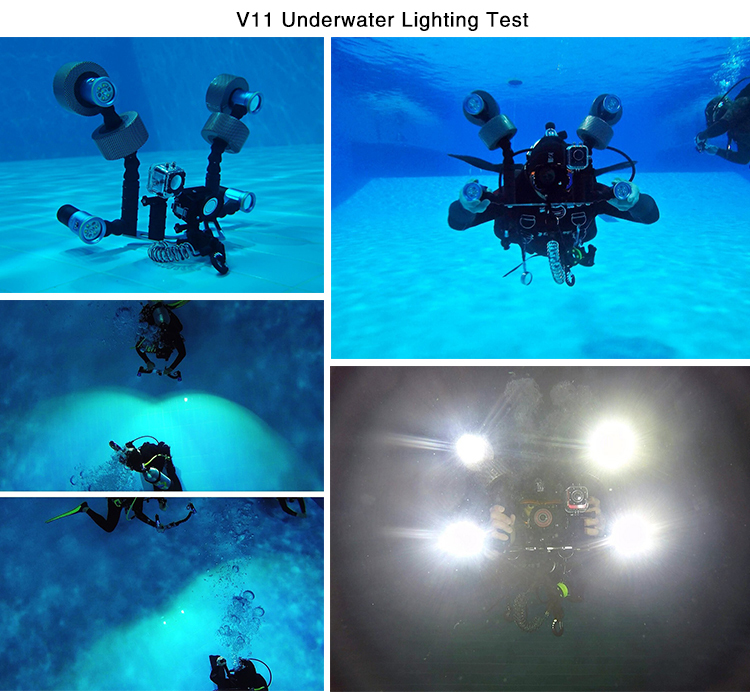 2015 Rechargeable Led Scuba Diving and Waterproof Torch For Underwater Explore