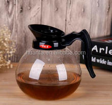 New hot sale Heat Resistant borosilicate double wall mini glass teapot / coffee pot ,1600cc