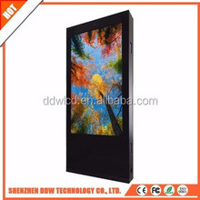 advertising light totem metal case , double sided digital signage , touch screen monitor