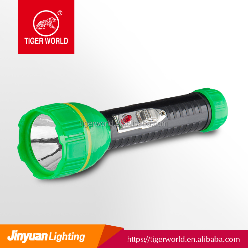 led suppliers OEM tiger world dry battery small powerful plastic body led diving torch for European market