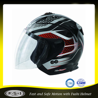 Latest DOT with visor open face tapy motorcross helmet