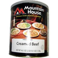 Mountain house creamed beef #10 can