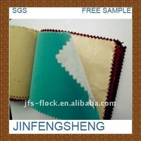 2014 high quality adhensive velvet fabric