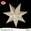 Seven points paper star lantern for house or office decoration