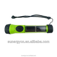 sunergy waterproof solar powered LED flashlight with backup battery