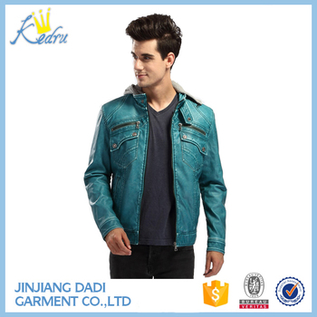 2017 Mens Quilted Fashion Leather Jacket