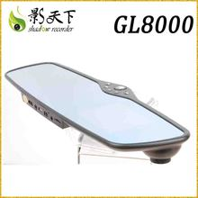 super capacity G-sensor car rearview mirror camera dvr with GPS