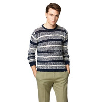 Sublimation custom printed stripe mens knitwear/sweater manufacturer china