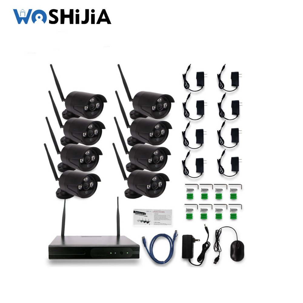 1080P HD home security camera system bullet ip camera nvr wireless 8ch wifi kit