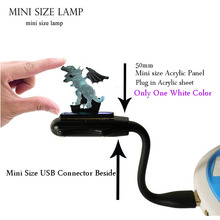 Acrylic 3D Animal Lava Dinosaur Jurassic Park Paper-cut Dragon LED Room Decor Mini USB Charge Mood Night Light Friends Gift