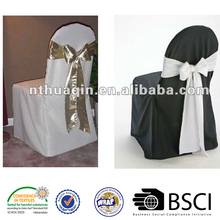 banquet 100%polyester chair cover wedding polyester chair bow