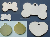 brass blank heart round bone dog id name tag, free mold pet id dog tag