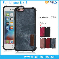 Fashion TPU PU Leather Stick Cowboy Skin Soft Phone Case For iPhone 6s Plus