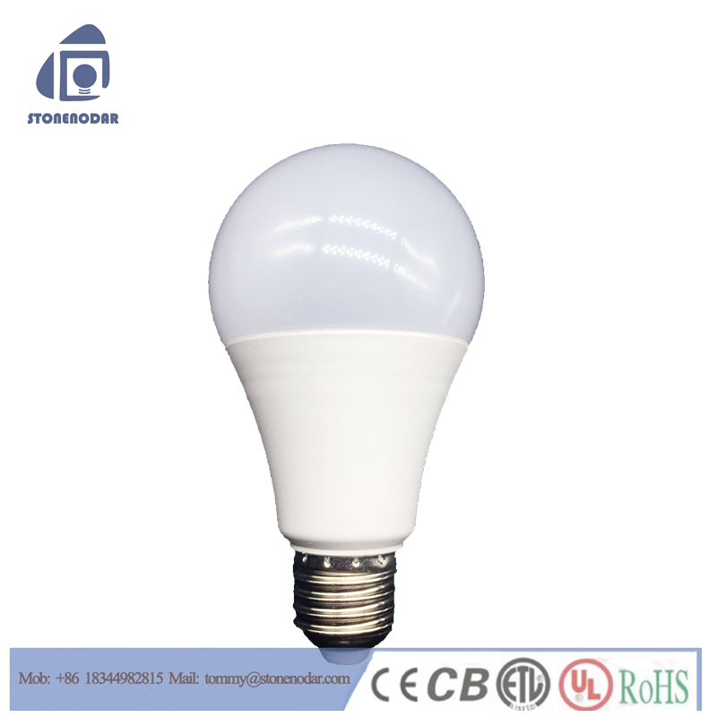 Low price aluminum CE RoHS milk cover 5W 7W 9W 12v dc led light bulb,led energy bulb light a19 E27 12W A60