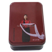 Alibaba China Health Food Packaging Box Factory Customize Gift Box Use Red Happy Coffee Metal Tin Can Wholesale