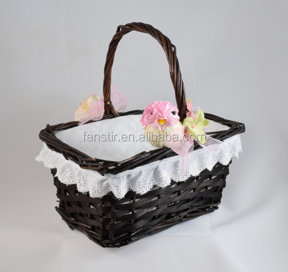 Wholesale Natural Wood Basket Decoration Gift Basket and Christmas Basket
