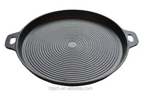 Round party cast iron BBQ grill