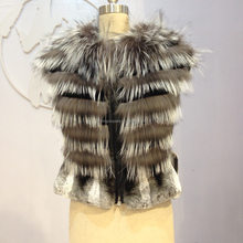 Chinese Fur Factory Product Designer Clothing Silver Fox