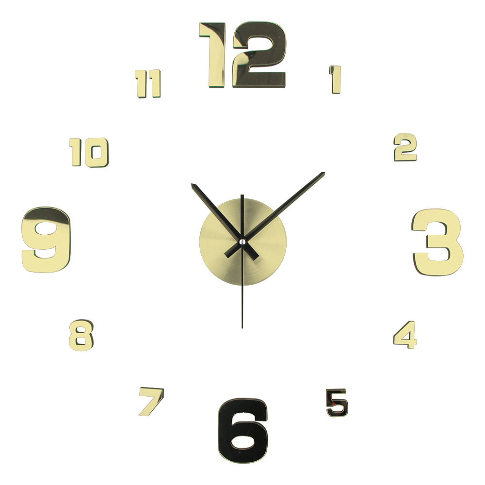 DIY Decorative Wall Sticker Clock 3D Wall Mounted Clock Horloge Wall Watch