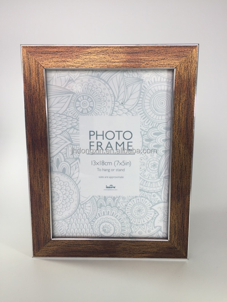 home decoration 5x7 black silver plastic photo frame cheap ps photo frame