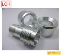 China cnc manufacturer custom aluminium caps Knurled cap