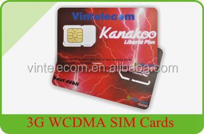 3G WCDMA SIM Cards / Mobile Phone test cards/3G mini / micro SIM cards for operator