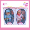 Hot Hot selling soft cotton 14 inch baby doll with IC 12 voice.