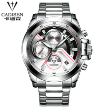 Full Steel Men's Sports Quartz CADISEN Watches Mens 9016 Watches Top Brand Luxury Wristwatches leather waterproof Hot Sale New