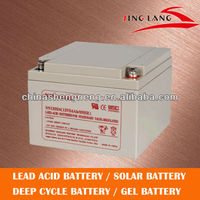 Sealed deep cycle lead acid battery storage battery 12V 24AH