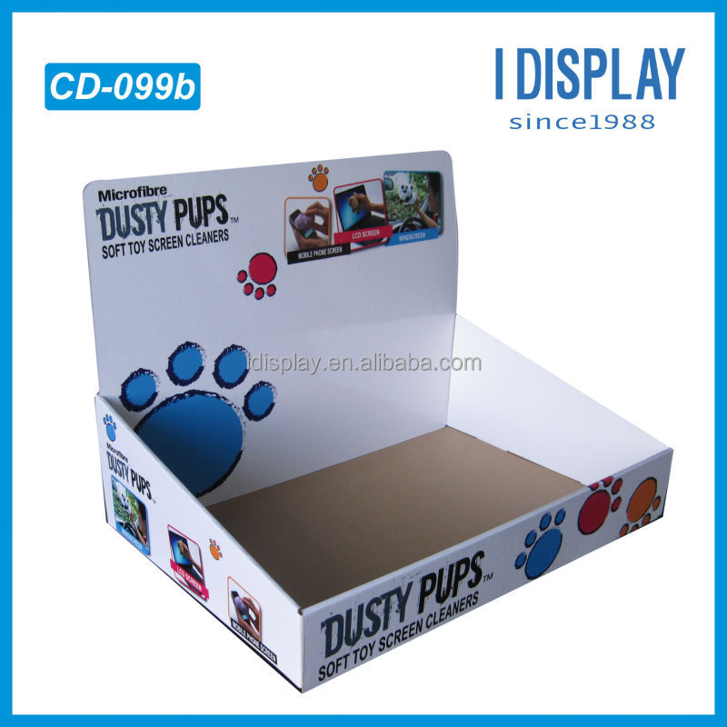 easy assemble soft toy screen cleaners counter display box