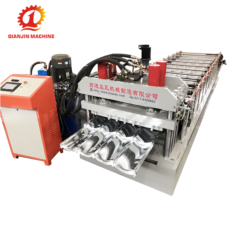 Metal Glazed Interlocking Tile Machine, Glazed Roofing Sheet Cold Roll Forming Machine