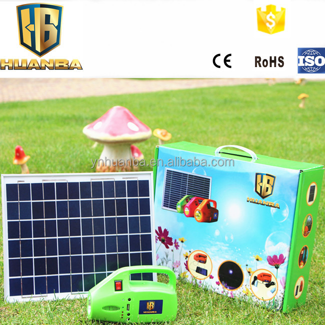 powerful mini IP65 waterproof solar generator system with phone charger