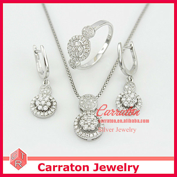Promotional Items 2014 Sterling Silver Arabic Bridal Jewelry Sets