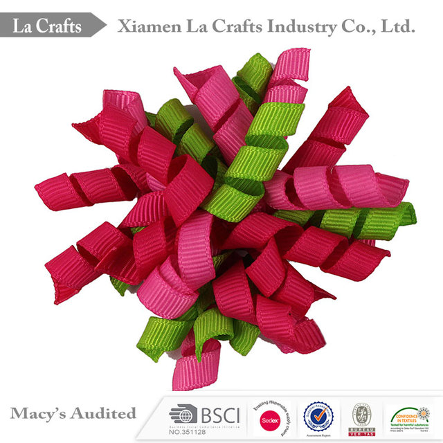 3/8 inch grosgrain korker ribbon bow christmas hair decotive bow