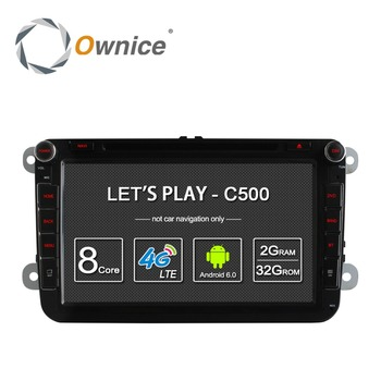Ownice C500 Android 6.0 Octa core car GPS video RADIO for VW Polo Bora support DVR TV 4G DONGLE DAB+ Tunner