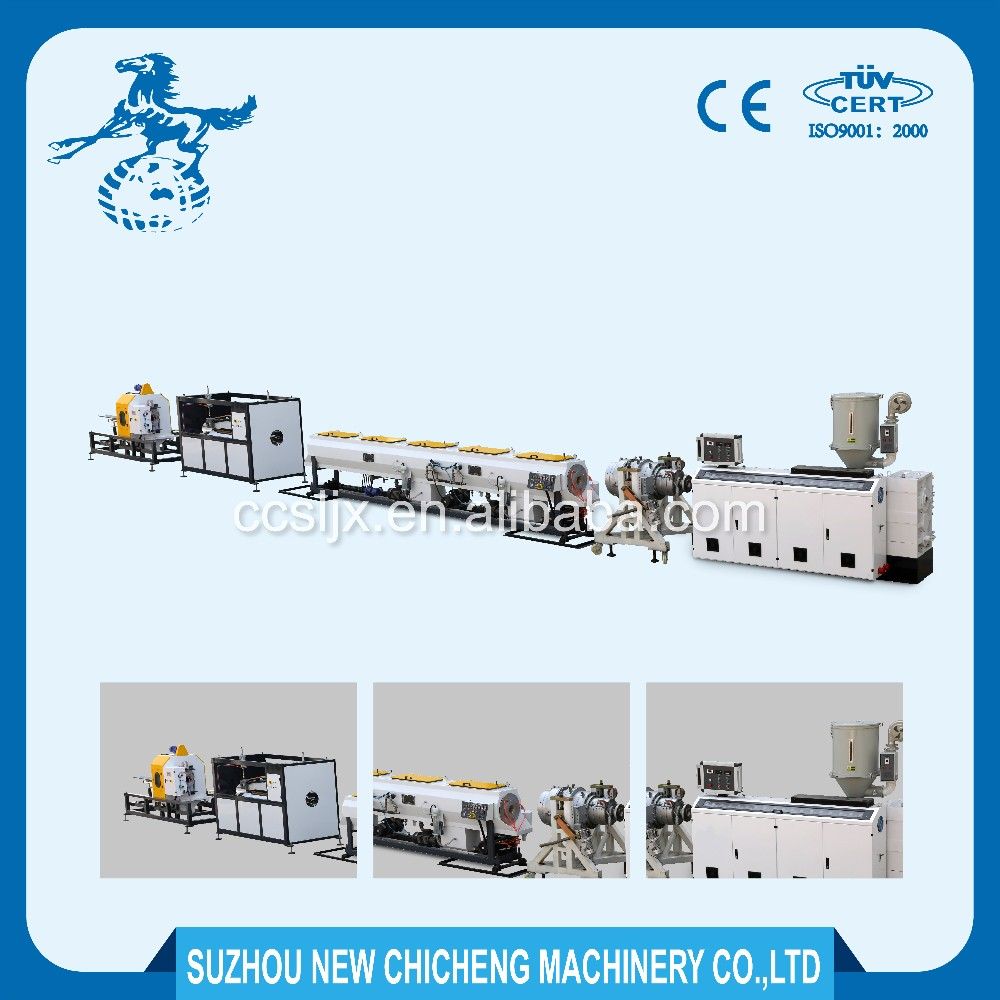 CE ISO approved hdpe plastic pipe extrusion machine/line