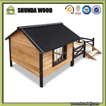 SDD010 Custom Wholesale Ourdoor Large Wooden Dog House For Sale , Wooden Dog Kennel Cages Factory Direct Cheap Price