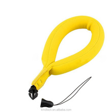 Pearl Cotton Bright Yellow Foam Waterproof Camera Floating Wrist Strap for go pro Canon Panasonic Nikon Cameras, Phones, Keys