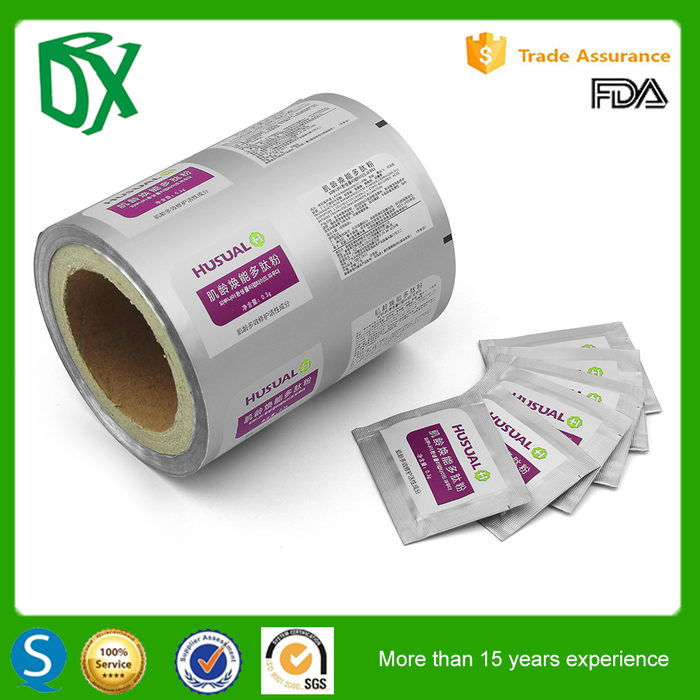 Latest products in market custom PET/AL/PE aluminum foil plastic film roll for condom packaging