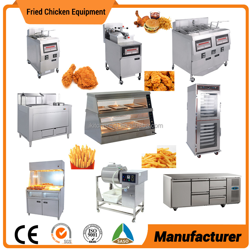 With Commercial Chicken Pressure Fryer Fried Chicken Equipment