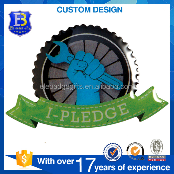 custom wholesales offset printing CMYK printing epoxy domed lapel pin badges