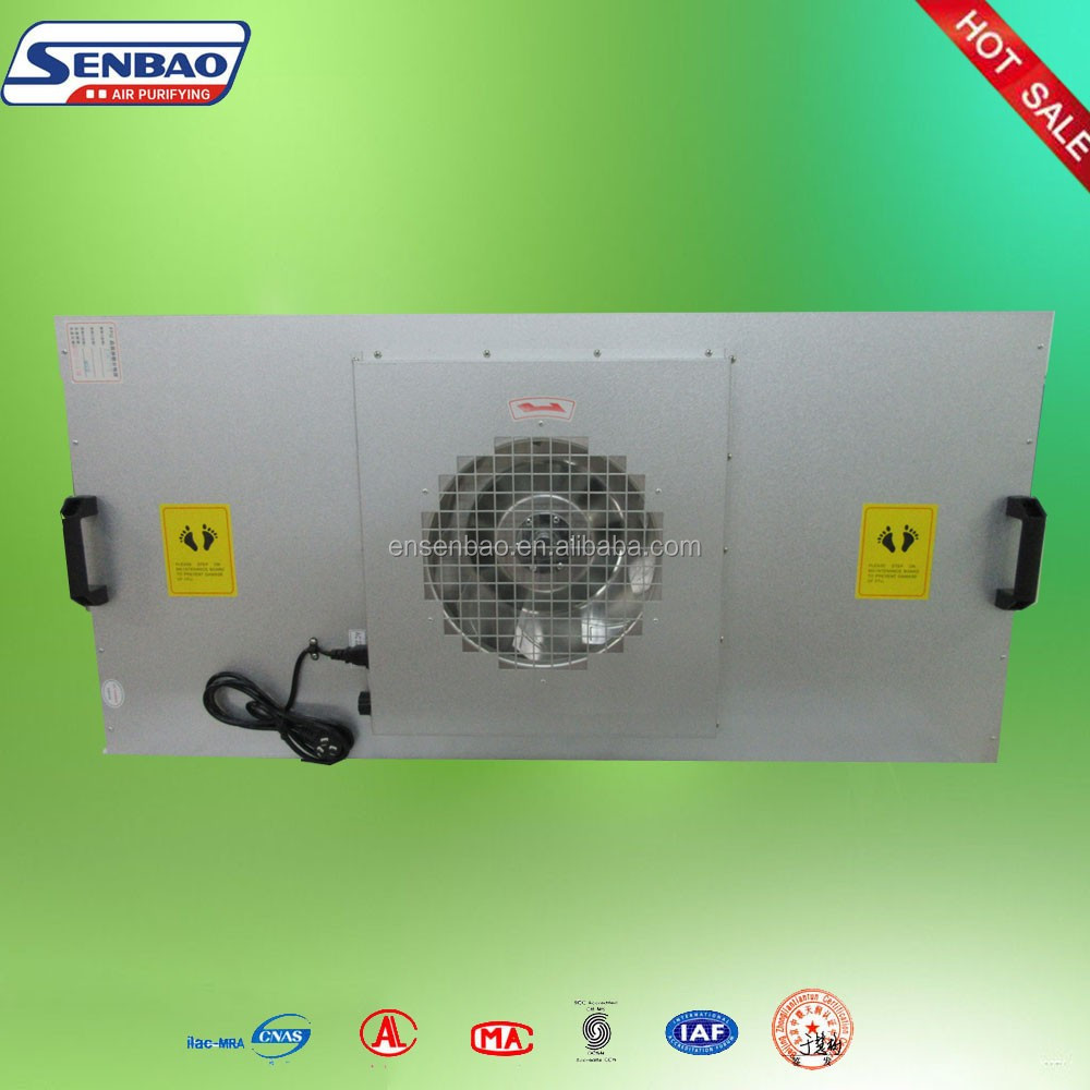 Air Conditioning System Galvanized Frame Hepa Fan Filter Unit