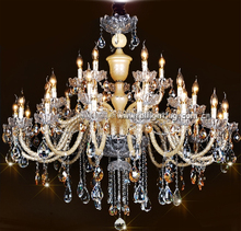 Modern candle factory-outlet crystal chandelier light